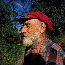 Friedensreich Hundertwasser w Nowej Zelandii w 1998 r.