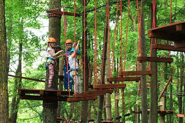 Park linowy Wiewióra (Fot. www.mazureo.pl)