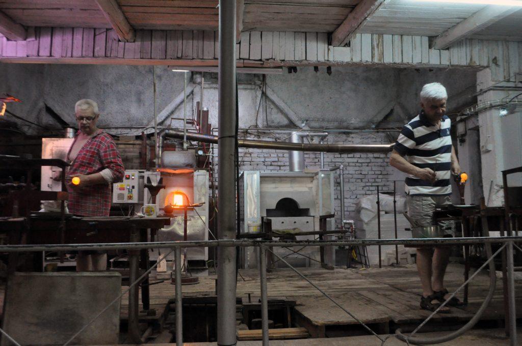 Proces produkcji szkła w Leśnej Hucie